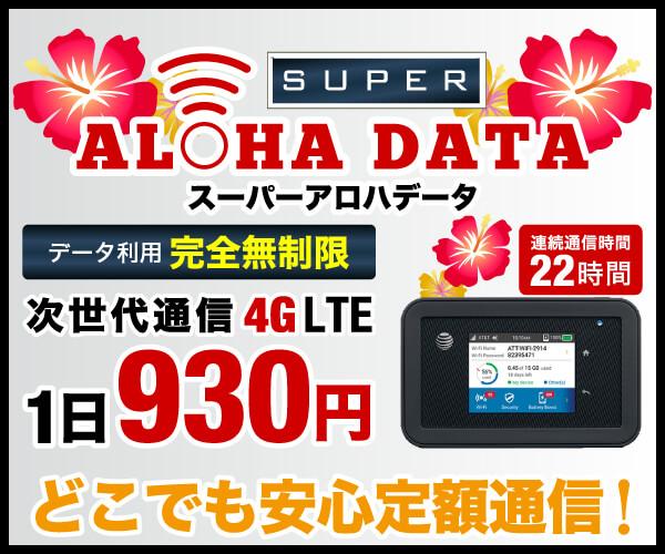 ハワイ専用WiFiアロハデータの口コミと評判で比較